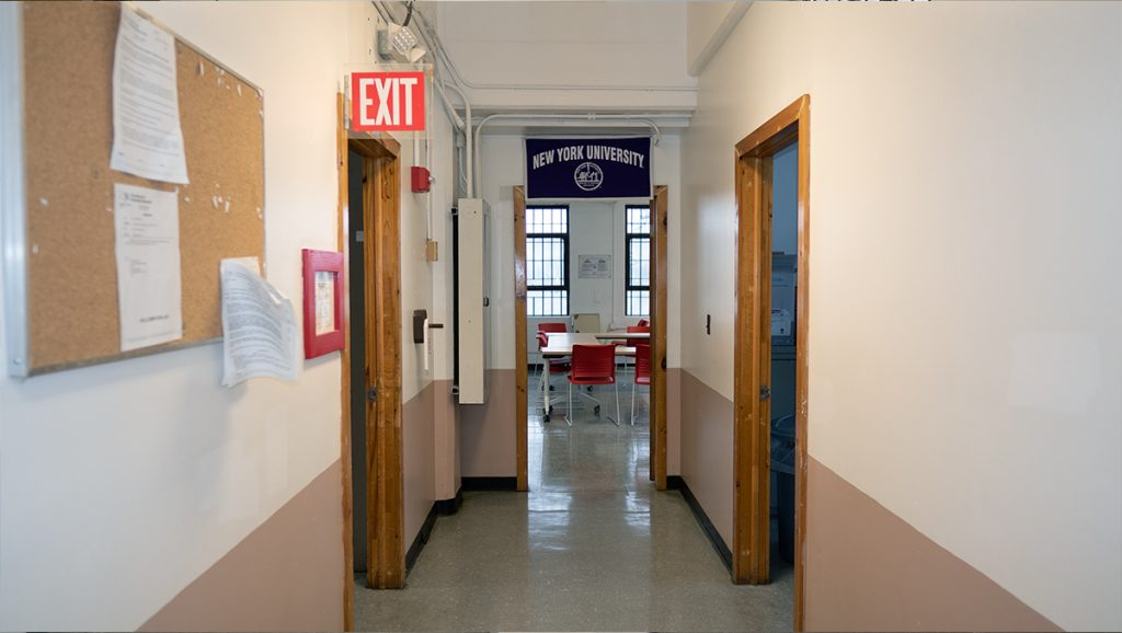 Hallway of education wing at NYU Wallkill